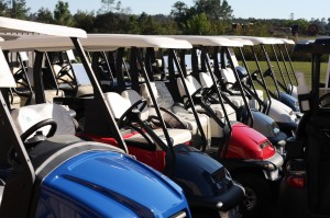 Gulf Atlantic Lined up golf carts