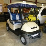 CLUB CAR with upgraded seats and golf curtain package.