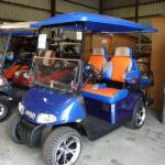 E-Z-GO 2011 RXV with new body, 4-passenger kit,custom two tone seats, upgraded tires & wheels, custom long top - pick your color combinations and let us build a car just right for you!